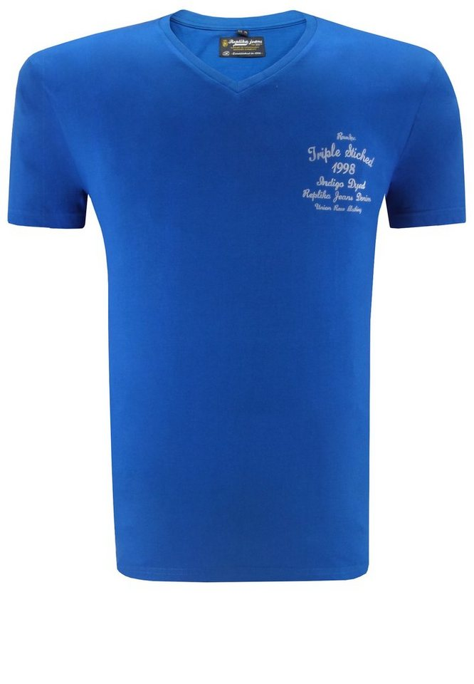 replika T-Shirt in Blau