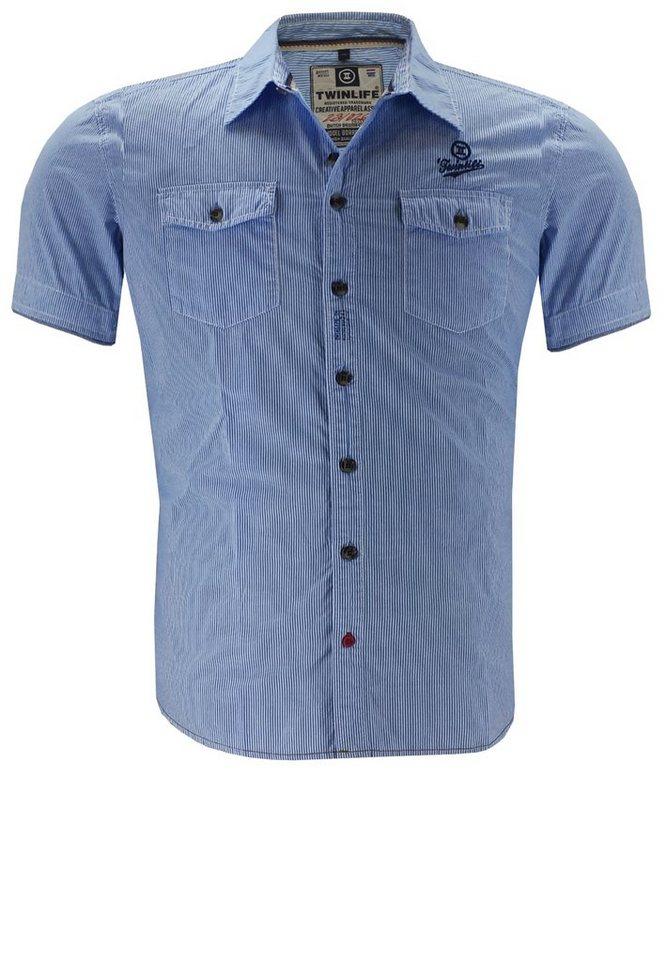 twinlife Kurzarmhemd in Blau
