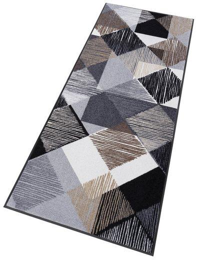 Läufer »Lines and Boxes«, wash+dry by Kleen-Tex, rechteckig, Höhe 7 mm, In- und Outdoor geeignet