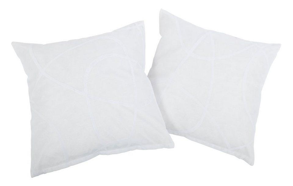 Kissenhüllen, my home, »Louga« (2 Stück) in weiß