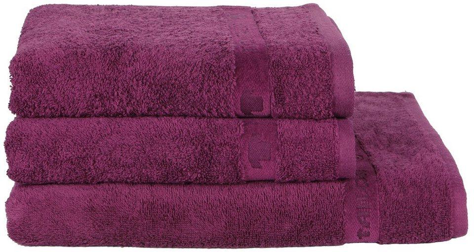 Handtuch Set, Tom Tailor, »Otto«, mit moderner Bordüre in lila