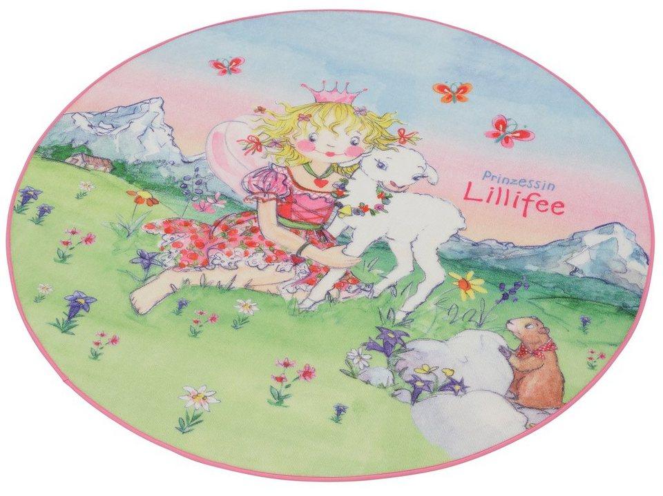 Kinder-Teppich, Prinzessin Lillifee, »LI-102«, Rund in rosa