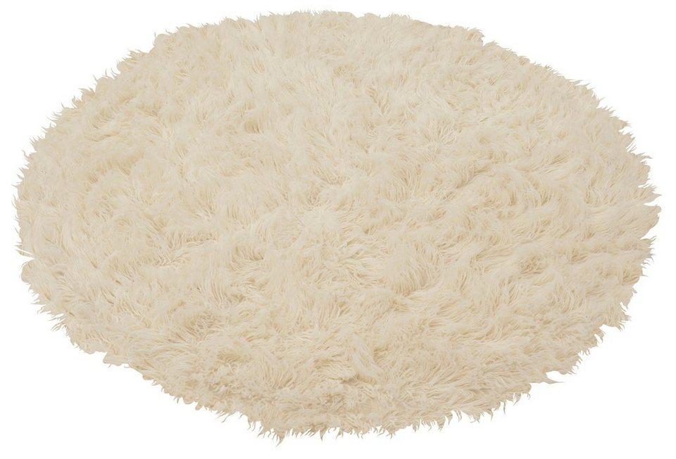 Teppich, Böing Carpet, Rund, »Flokati 1500 g«, handgearbeitet, Wolle in natur