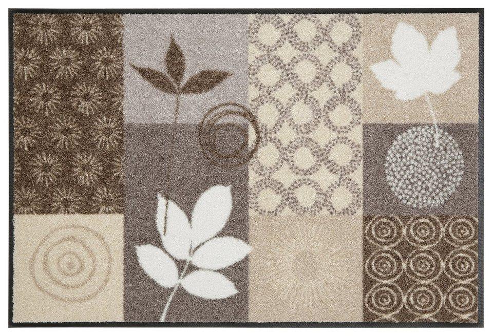Fußmatte, Salonloewe, »Autum Leaves«, waschbar, In- und Outdoor mit rutschhemmender Beschichtung in Schlamm