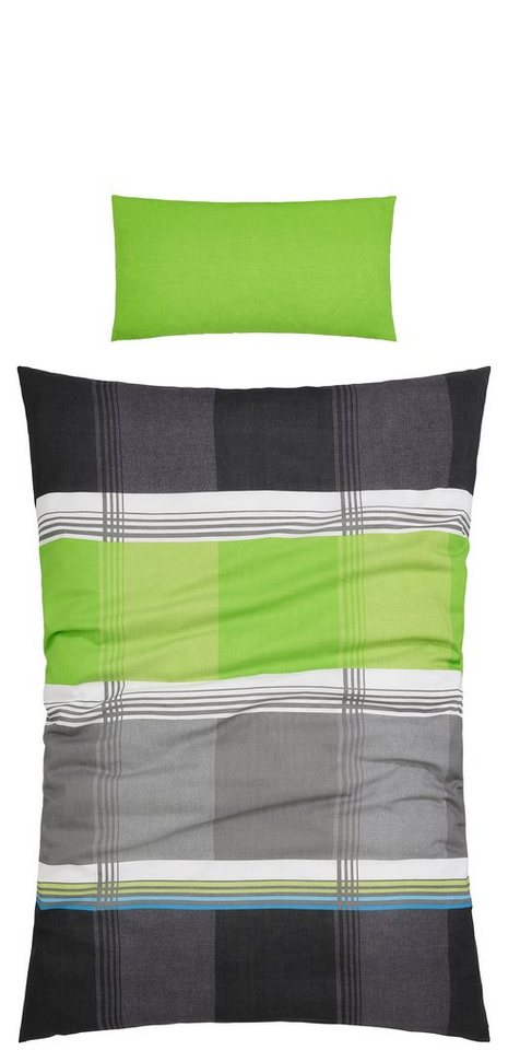 Bettwäsche, my home, »Elanus«, mit modernen Farben in grün