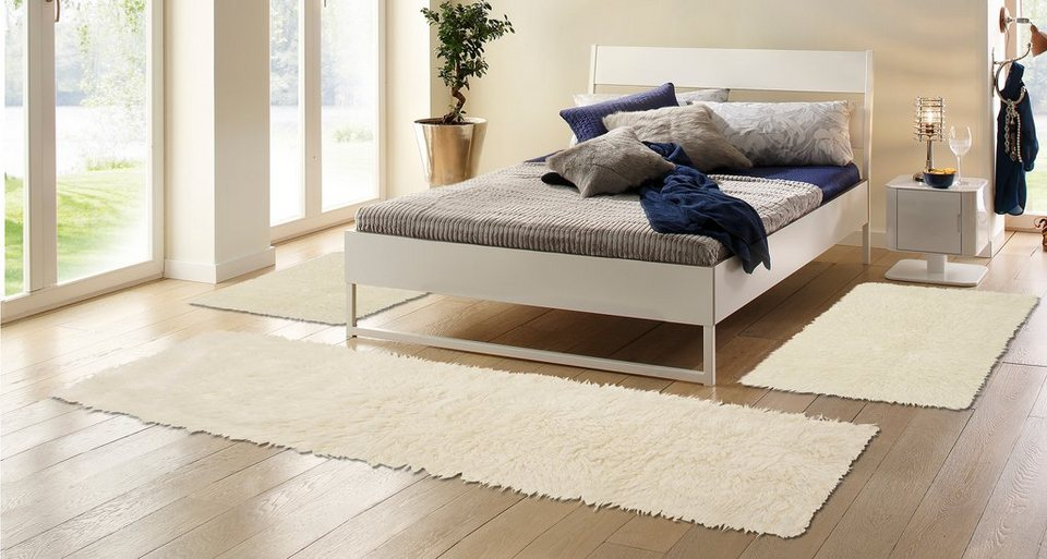 Bettumrandung, Böing Carpet, »Flokati 1500 g«, handgearbeitet, Wolle (3-tlg.) in natur