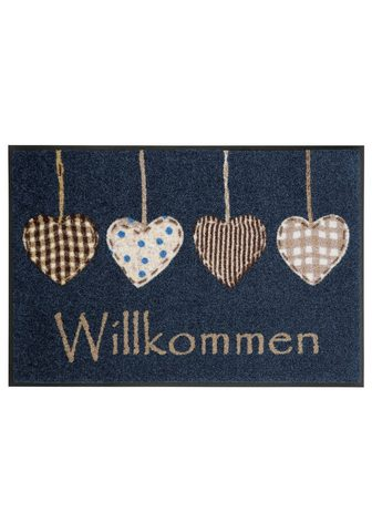WASH+DRY BY KLEEN-TEX Durų kilimėlis »Cottage Hearts« wash+d...