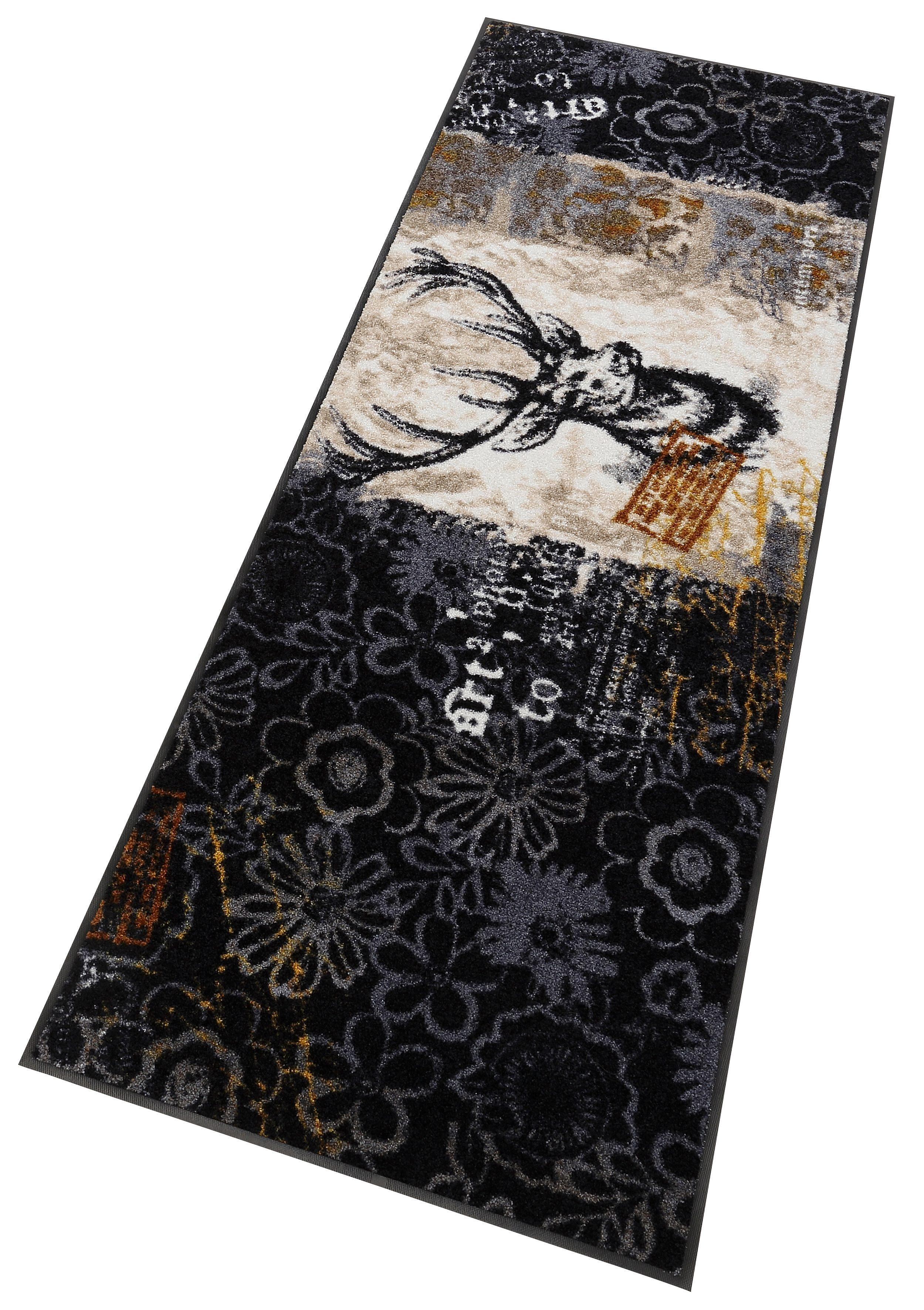 Läufer »Prachthirsch«, Salonloewe, rechteckig, Höhe 7 mm, Waschbar, In- und Outdoor mit rutschhemmender Beschichtung