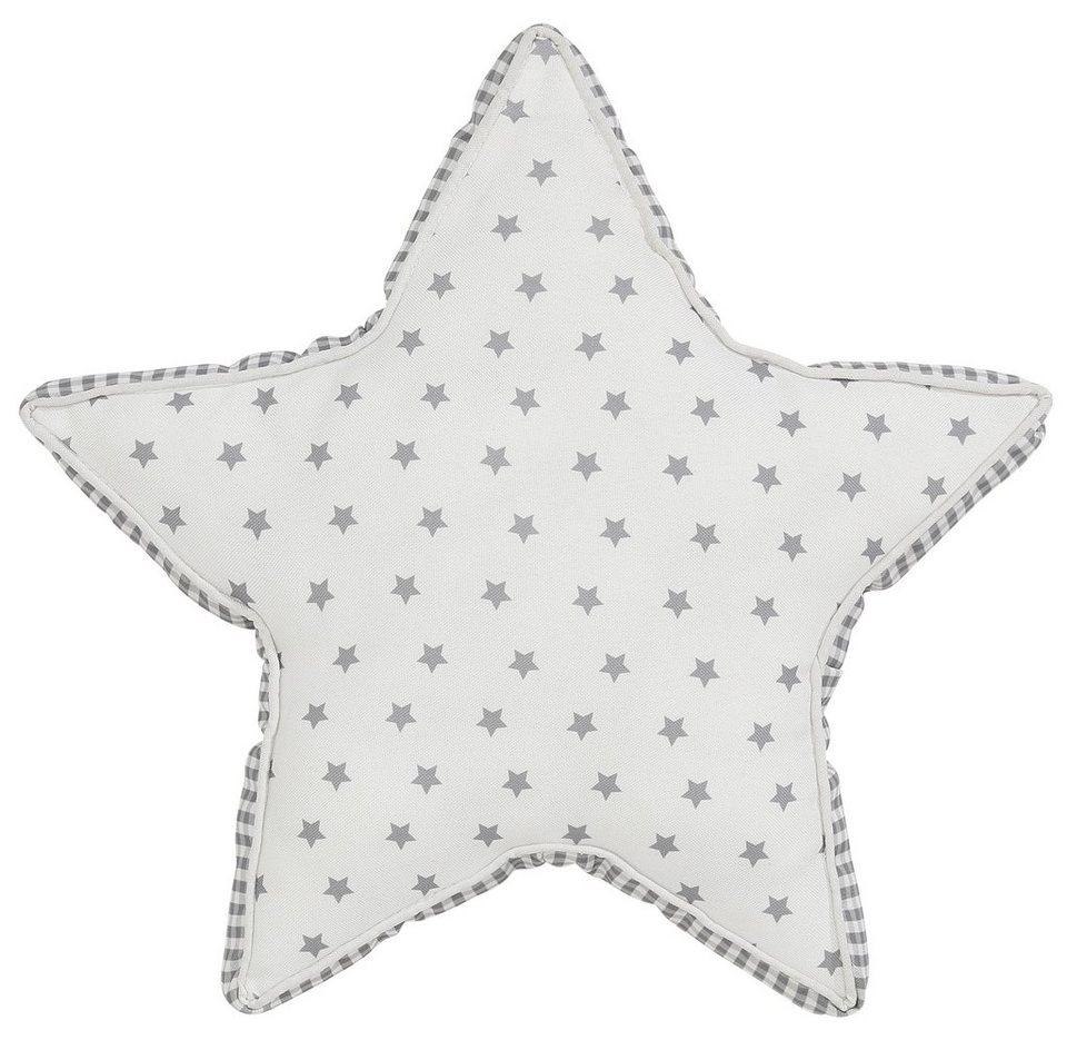 Dekokissen, Dreams, »Star«, mit Kedereinfassung in offwhite