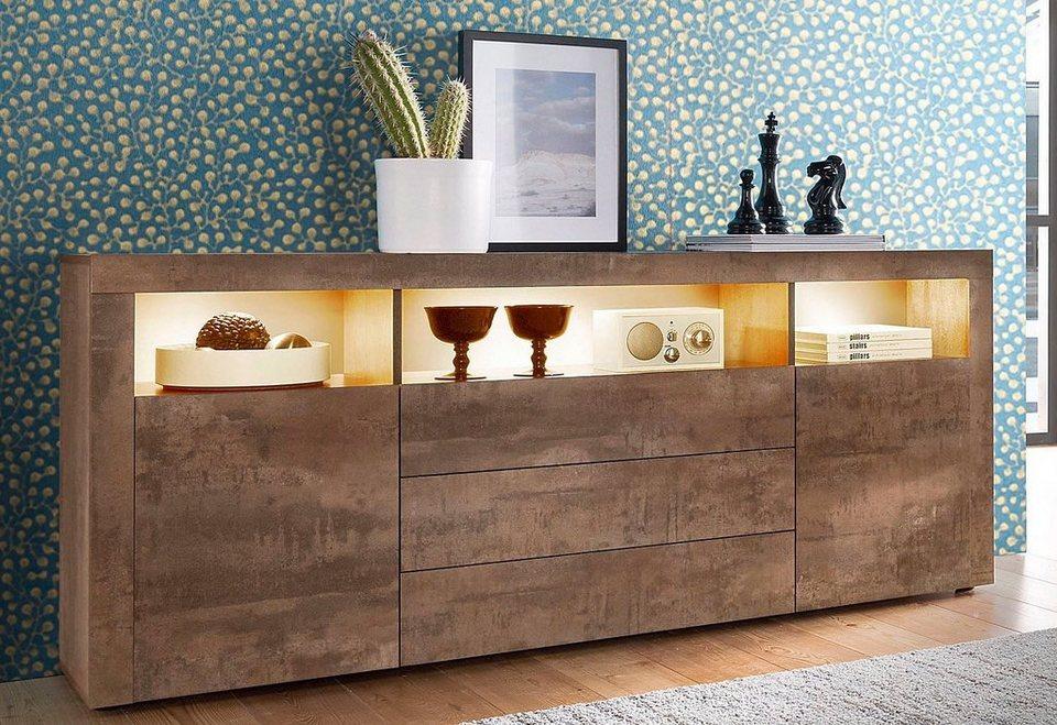 Borchardt m bel sideboard breite 166 cm 3 schubk sten for Schreibtisch 2 meter lang