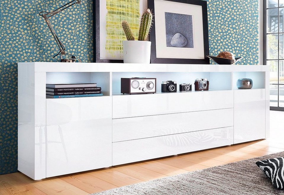 borchardt m bel sideboard breite 200 cm 3 schubk sten online kaufen otto. Black Bedroom Furniture Sets. Home Design Ideas