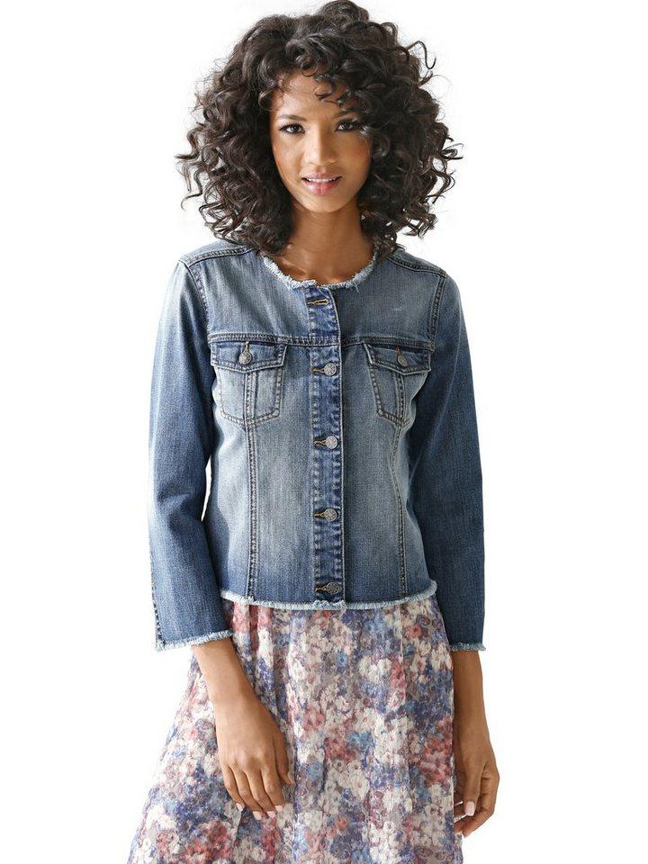 Jeansjacke in blue denim