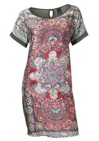 CASUAL платье в сочетание узоров в соч...