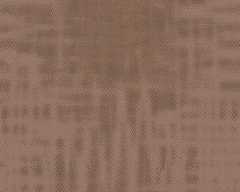 Vliestapete, Livingwalls, »Cocoon« in braun metallic