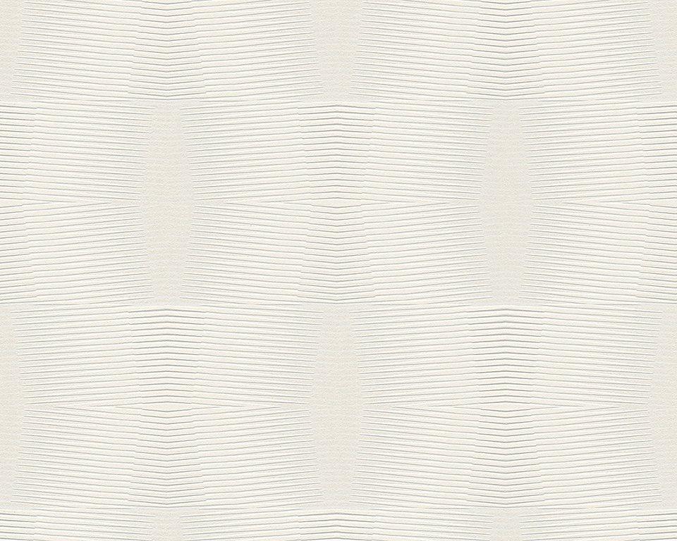 Vliestapete, Livingwalls, »Cocoon« in weiß