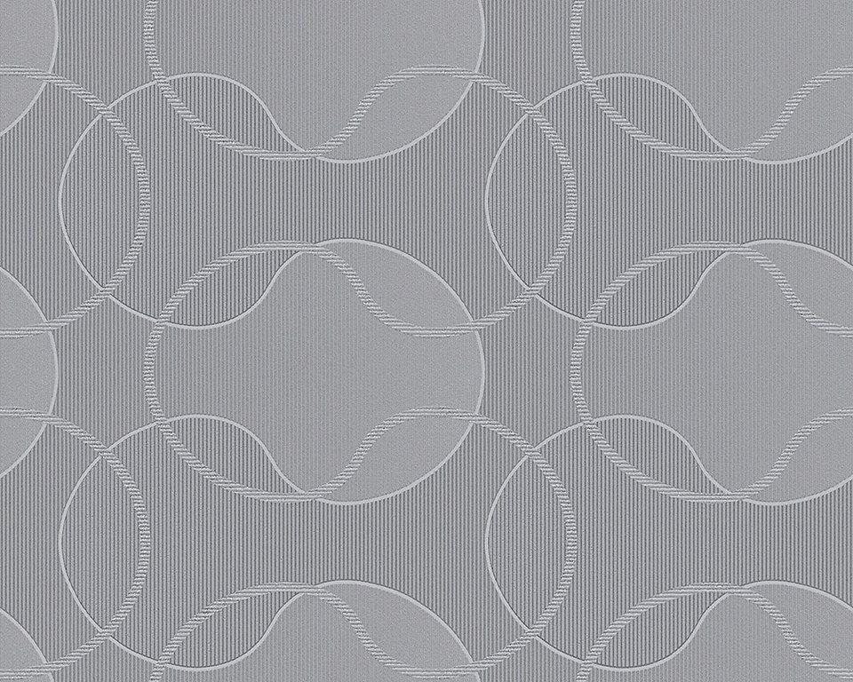 Vliestapete, Livingwalls, »Cocoon« in grau metallic