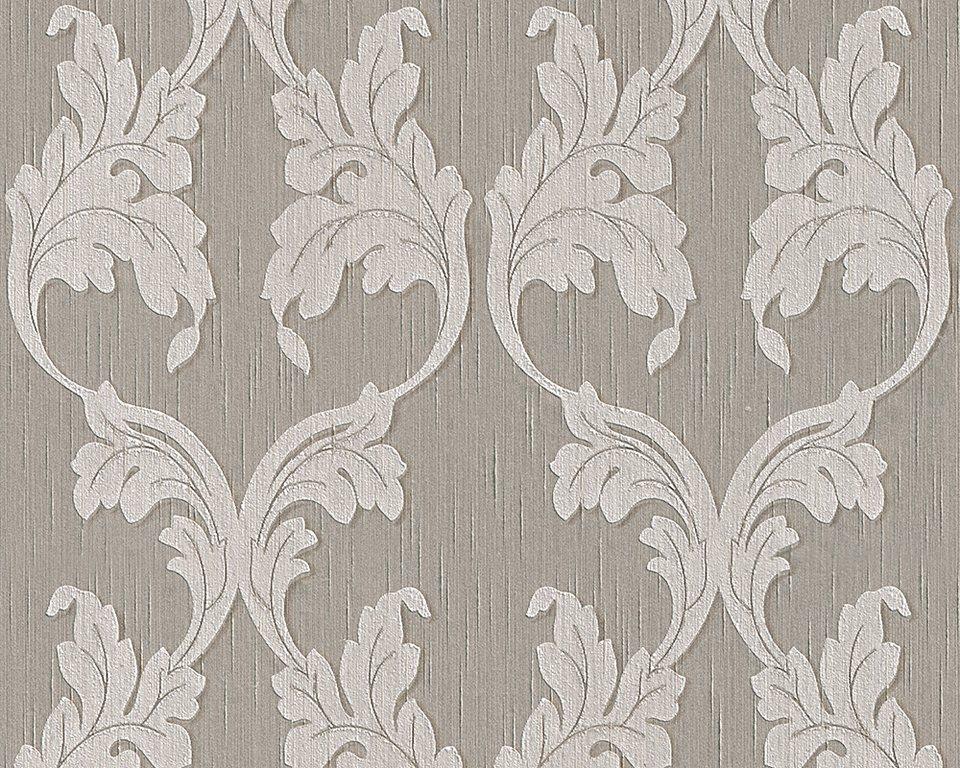 Vliestapete, Architects Paper, »Textiltapete Tessuto« in beige grau