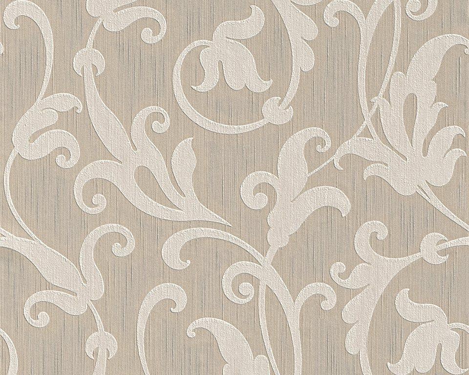 Vliestapete, Architects Paper, »Textiltapete Tessuto« in beige metallic