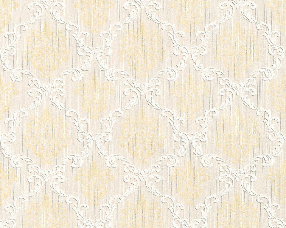 Vliestapete, Architects Paper, »Textiltapete Tessuto« in beige creme metallic