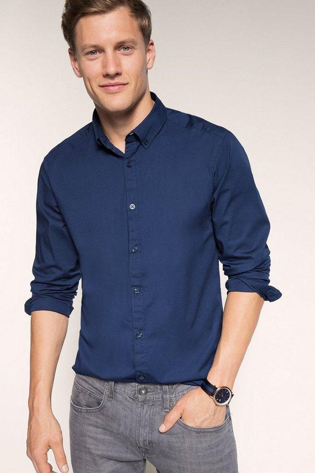 ESPRIT CASUAL Button-Down-Hemd aus Baumwoll-Stretch in NAVY