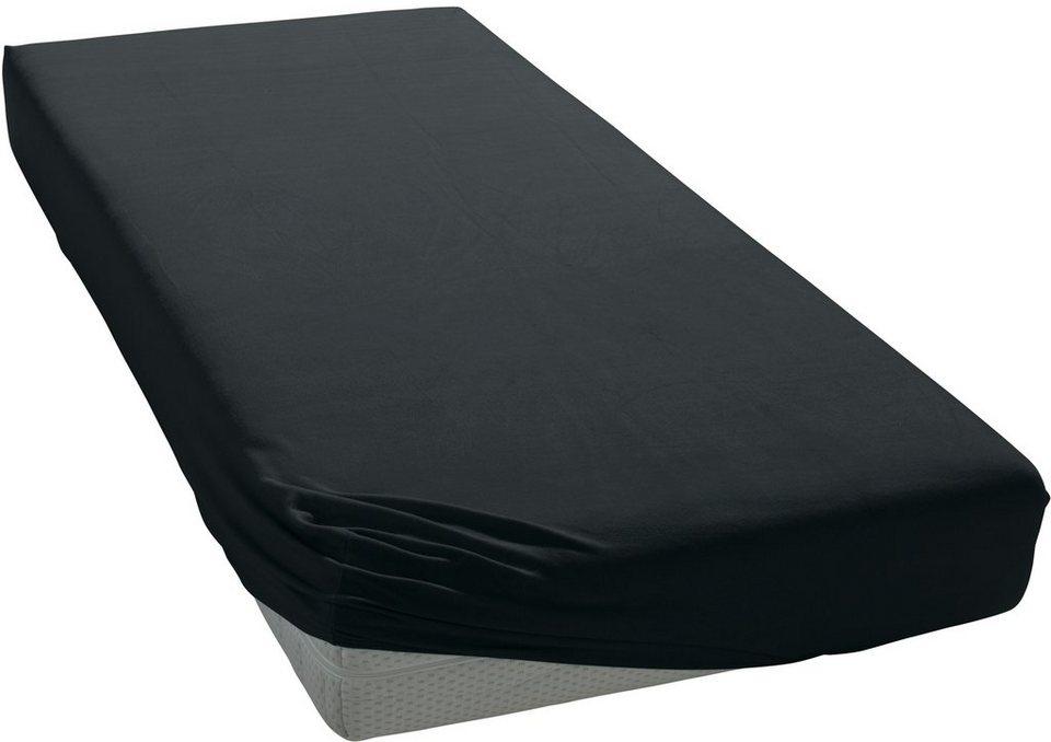 Spannbettlaken, damai, »BIO-Jersey«, aus BIO-Baumwolle in schwarz