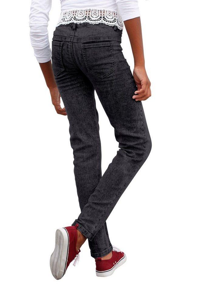 Arizona Stretch-Jeans Super Skinny in black-denim
