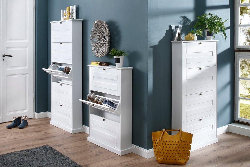 Premium collection by Home affaire Schuhklapper »Nadja«, Breite 76 cm in weiß