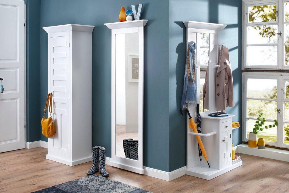 Premium collection by Home affaire Garderobenschrank »Nadja« mit Holztür Breite 67 cm in weiß