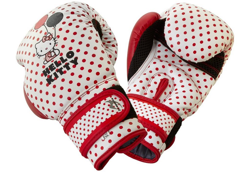 Ju-Sports Kinder Boxhandschuhe, »Hello Kitty Red Core« in weiß-rot