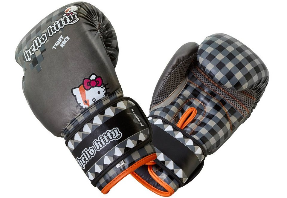 Ju-Sports Kinder Boxhandschuhe, »Hello Kitty Teddy Rock« in grau