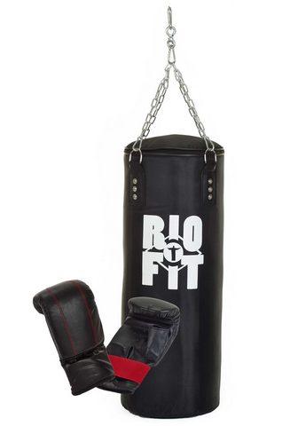 RIOFIT Bokso kriaušė (Rinkinys su Boxhandschu...
