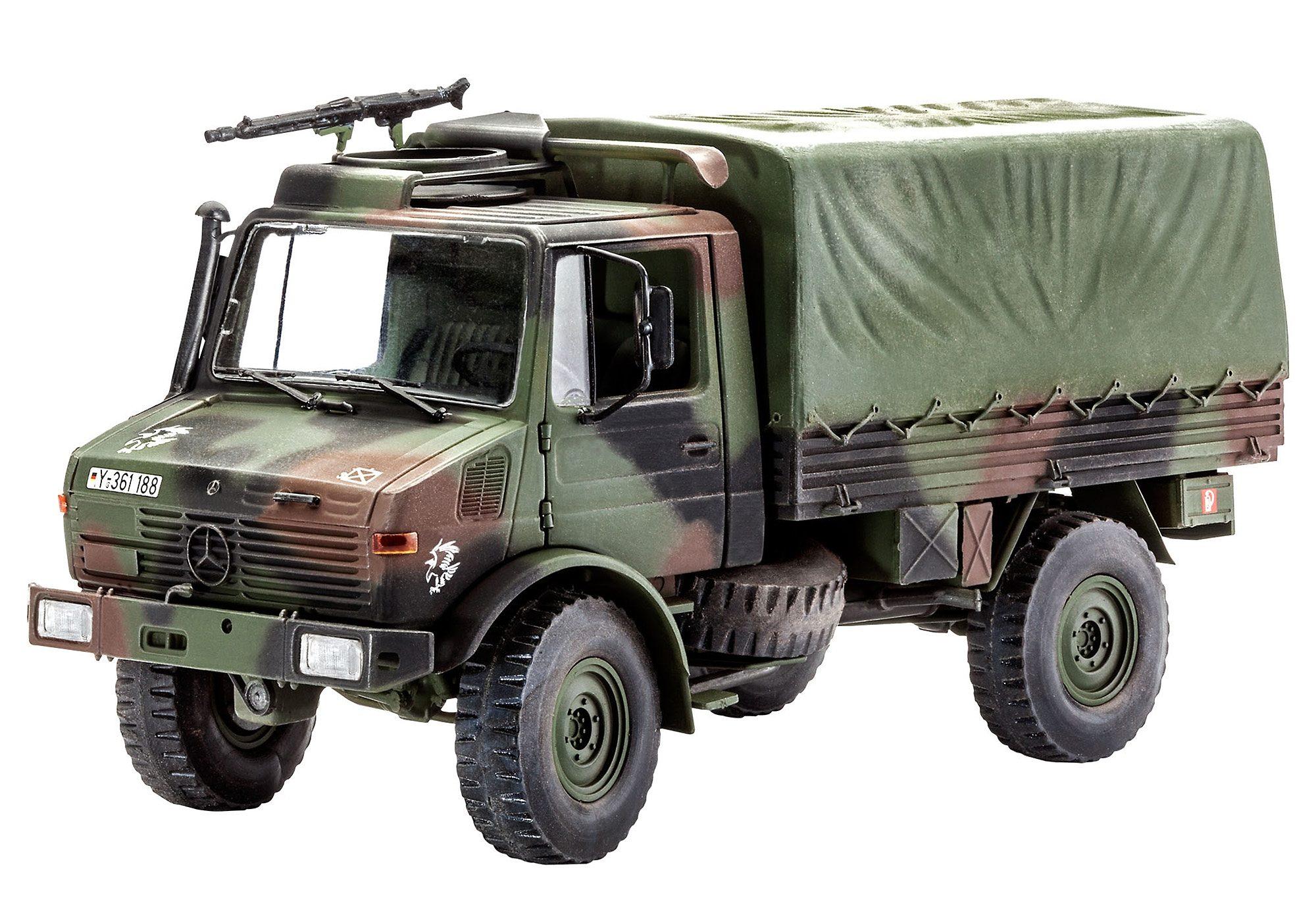 Revell® Modellbausatz LKW, »LKW 2t. tmil gl (Unimog)«, Maßstab 1:35