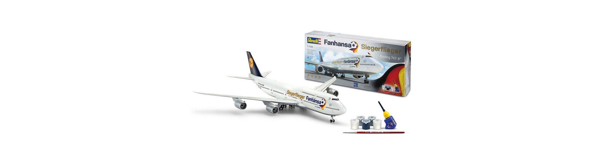 Revell® Modellbausatz Flugzeug, »Boeing 747-8 Fanhansa Siegerflieger«, Maßstab 1:144