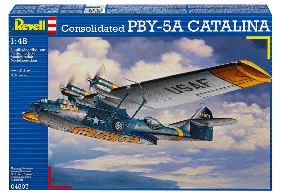 Revell® Modellbausatz Flugzeug, »Consolidated PBY-5A Catalina«, 1:48 in blau