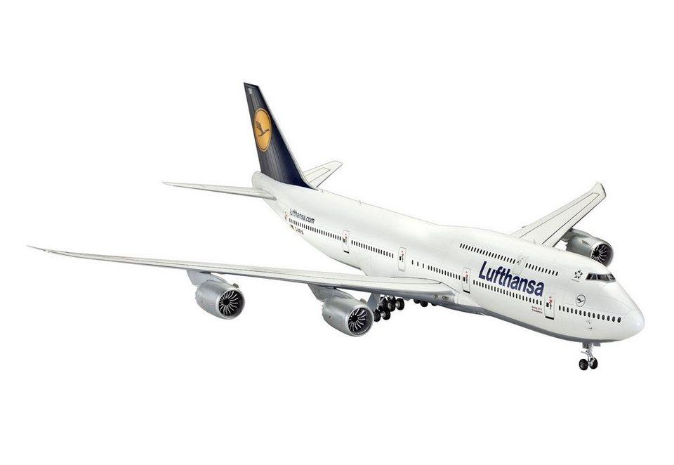 Revell® Modelbausatz Flugzeug, »Boeing 747-8 Lufthansa«, Maßstab 1:144 in weiß