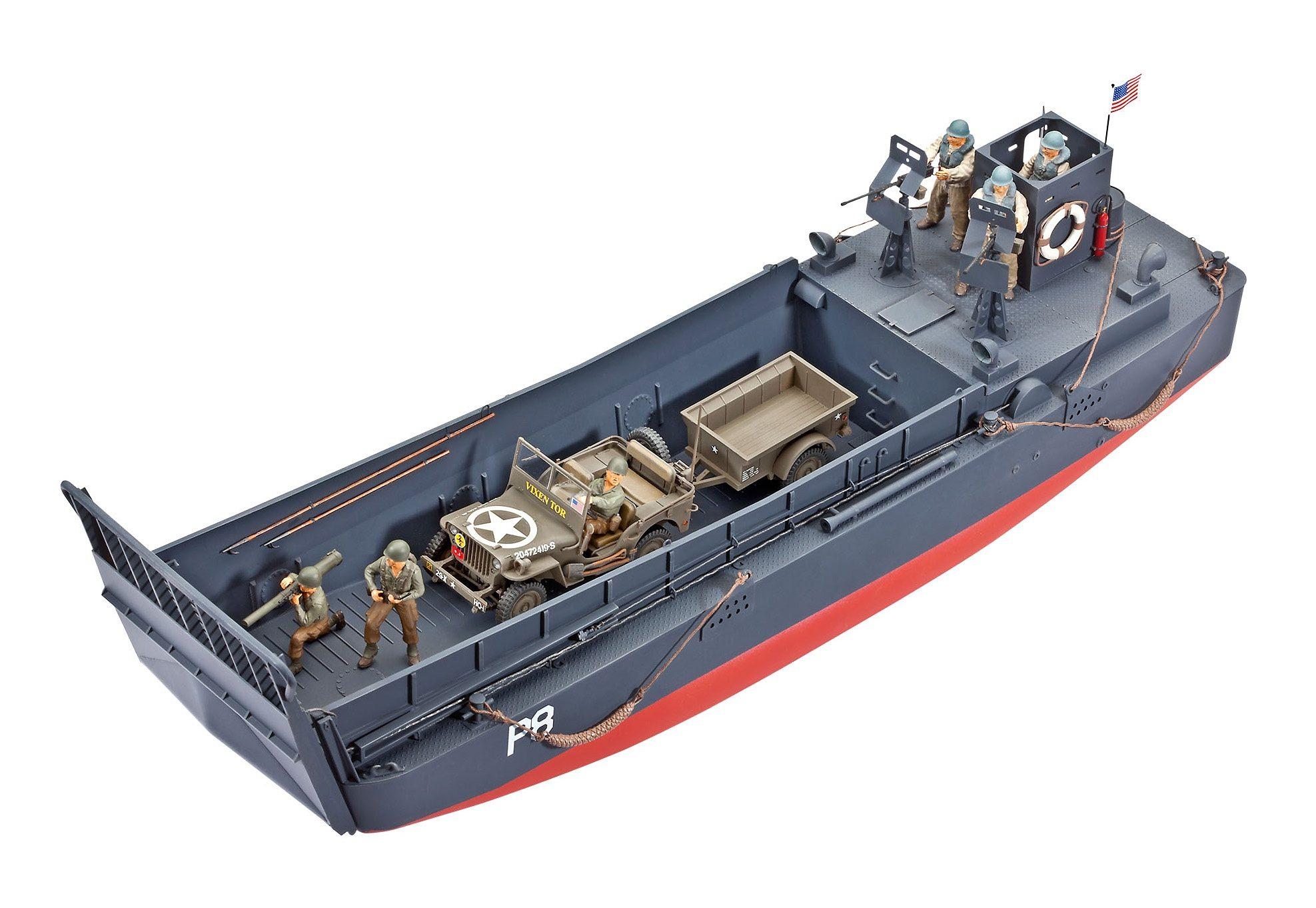 Revell® Modellbausatz Boot mit Fahrzeug, »D-Day Set LCM3 & 4x4 Off-Road Vehicle«, Maßstab 1:35