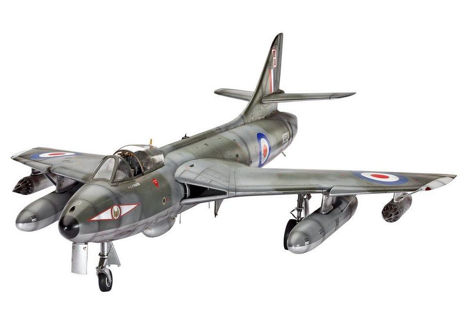 Revell® Modellbausatz Flugzeug, »Hawker Hunter FGA.9/Mk.58«, 1:32 in grau