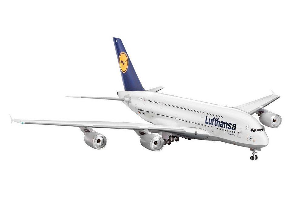 Revell® Modellbausatz Flugzeug, »Airbus A380-800 Lufthansa«, Maßstab 1:144 in weiß