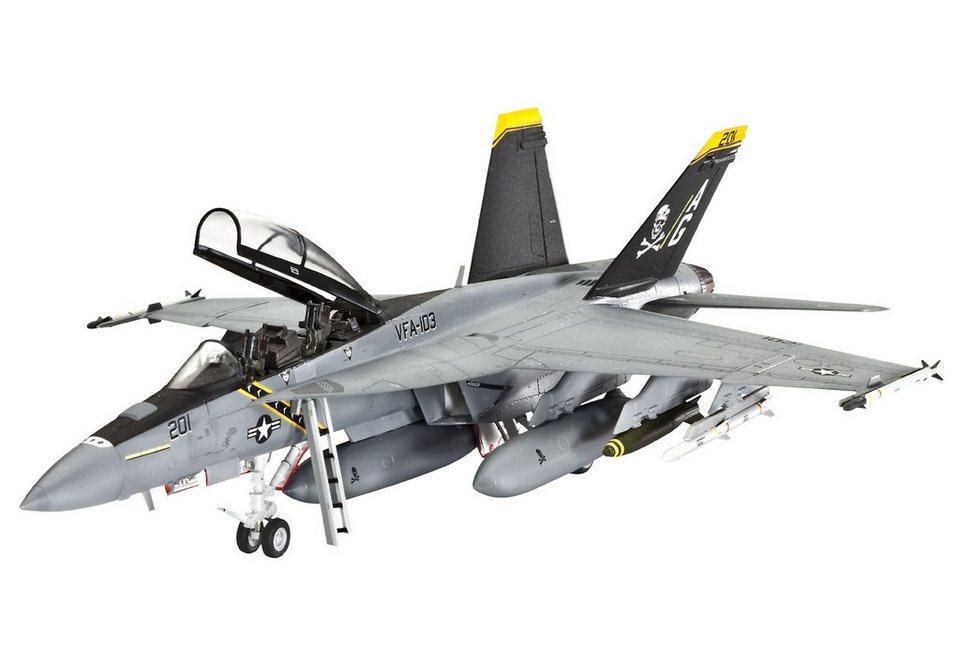 Revell® Modellbausatz Flugzeug, »F/A-18F Super Hornet twin seater«, 1:72 in grau
