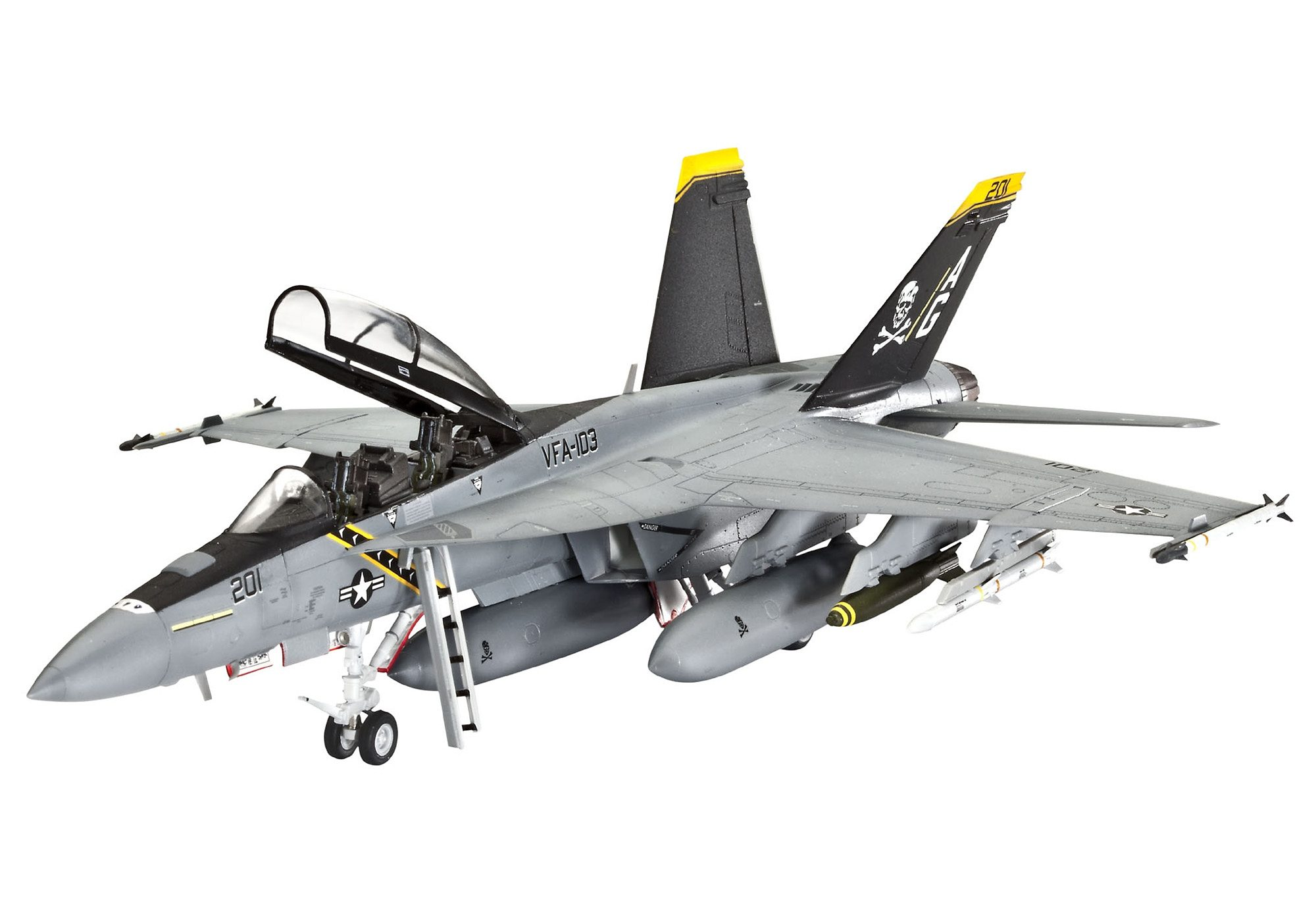 Revell® Modellbausatz Flugzeug, »F/A-18F Super Hornet twin seater«, 1:72