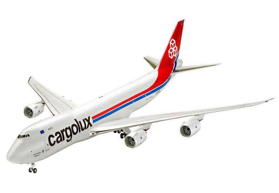Revell® Modellbausatz Flugzeug, »Boeing 747-8F Cargolux«, 1:144 in weiß