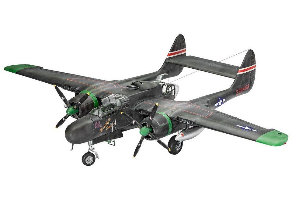 Revell® Modellbausatz Flugzeug, »Northrop P-61A/B Black Widow«, 1:48 in schwarz