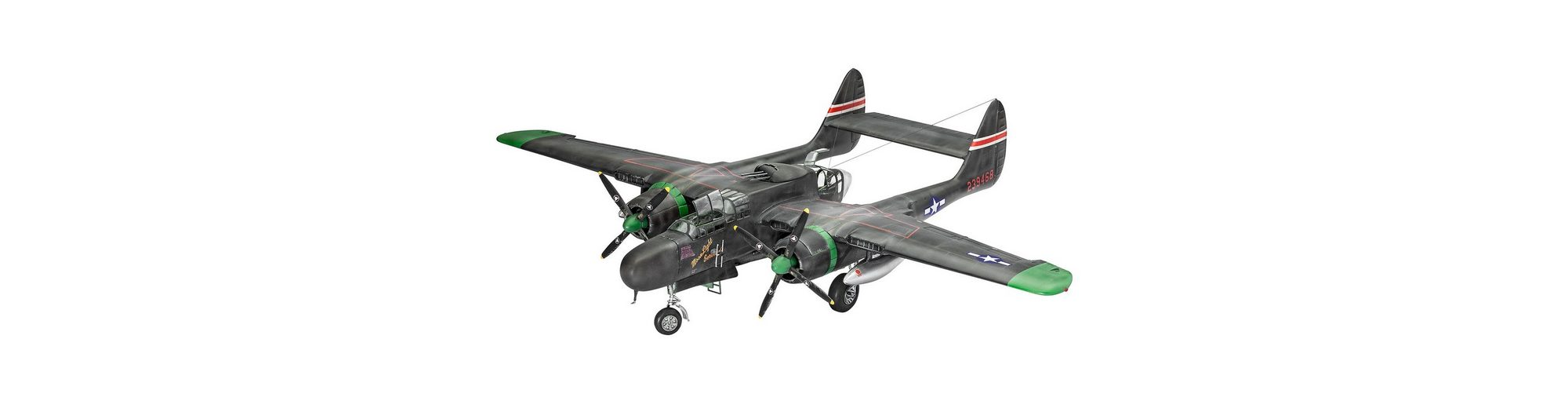 Revell® Modellbausatz Flugzeug, »Northrop P-61A/B Black Widow«, 1:48