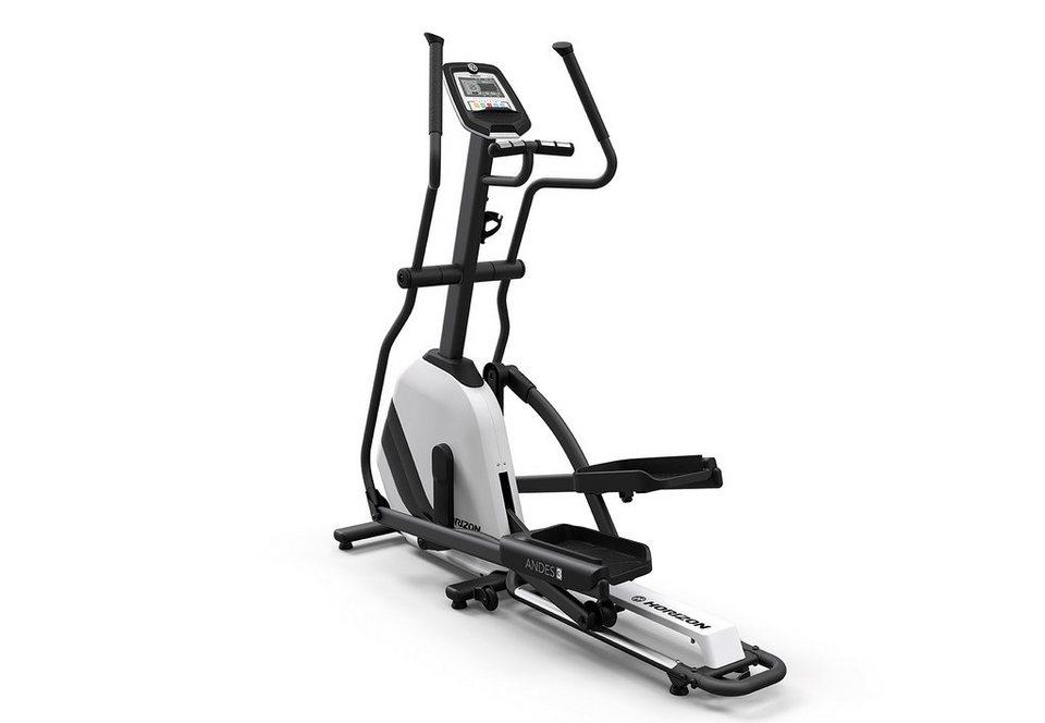 Horizon Fitness Elliptical Ergometer, »Andes 3« in schwarz-silber