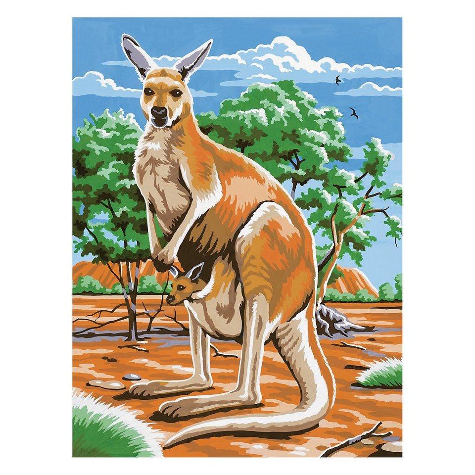 MAMMUT Spiel und Geschenk Malen nach Zahlen ab 8 Känguruh
