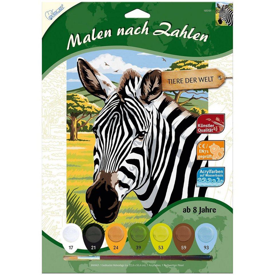 MAMMUT Spiel und Geschenk Malen nach Zahlen ab 8 Zebra