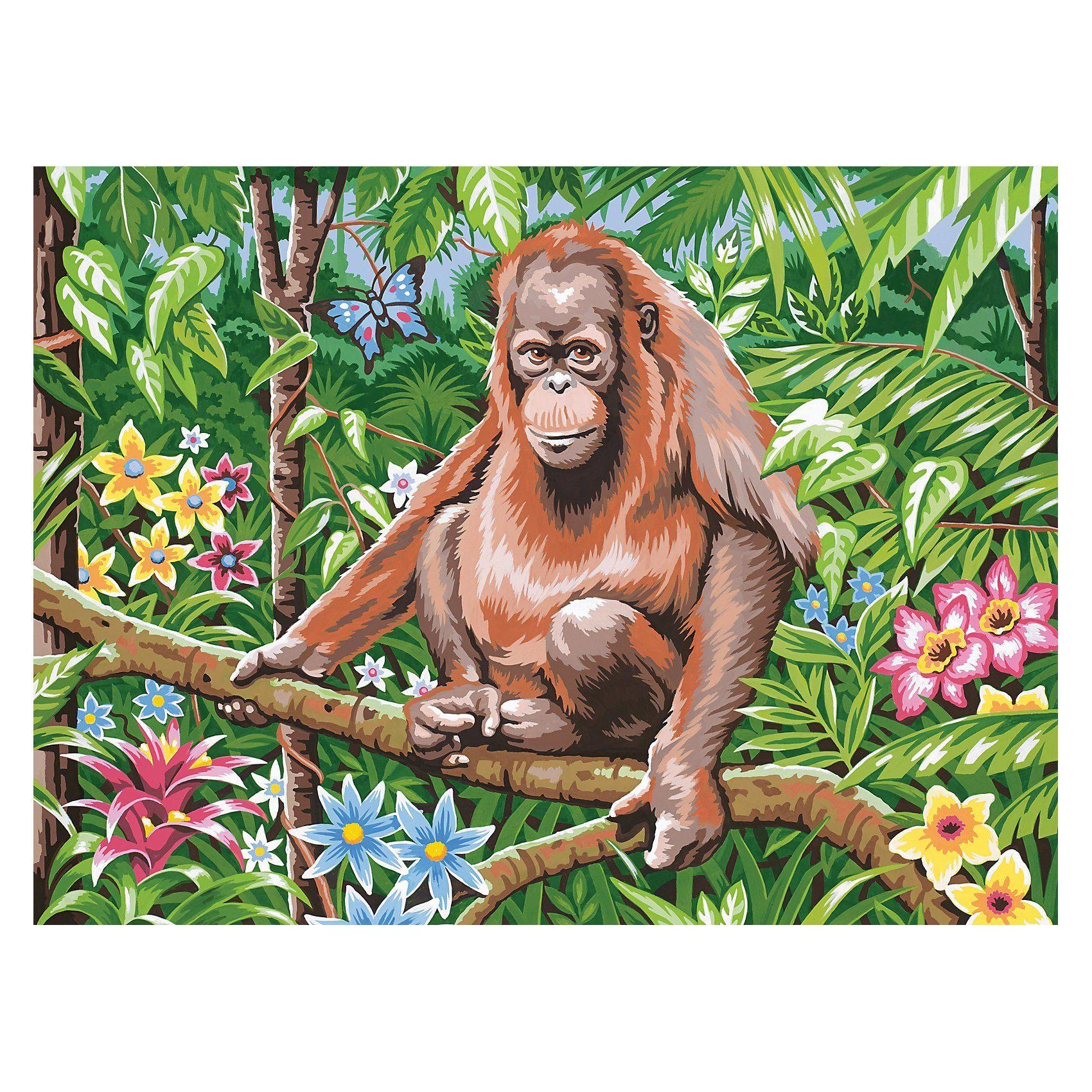 MAMMUT Spiel und Geschenk Malen nach Zahlen ab 8 Orang-Utan