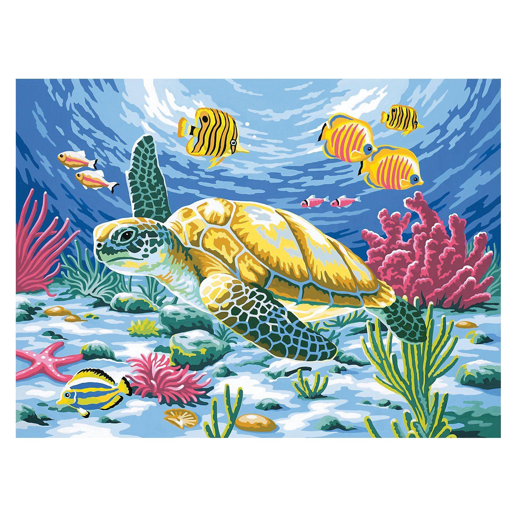 MAMMUT Spiel und Geschenk Malen nach Zahlen ab 8 Seeschildkröte