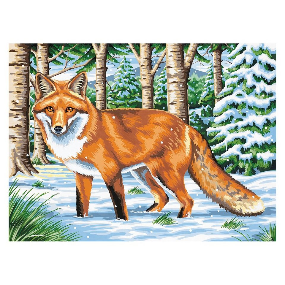 MAMMUT Spiel und Geschenk Malen nach Zahlen ab 8 Fuchs