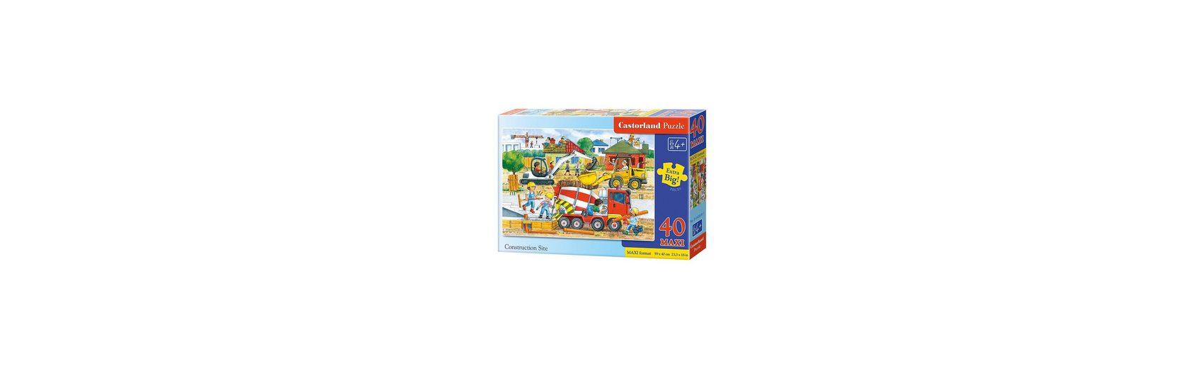 Castorland Bodenpuzzle 40 Teile Maxi - Auf der Baustelle